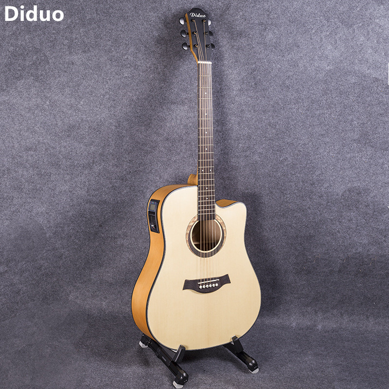 diduo 41 inch guitar guitarra acoustic folk guitar durbale 6 string picea asperata guitar with 5. Black Bedroom Furniture Sets. Home Design Ideas