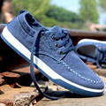 2017 Spring Autumn New Men Fashion Casual Male Trend Jogging Leisure Canvas Denim Jean Plimsole Flat Board Shoes Chaussures G523