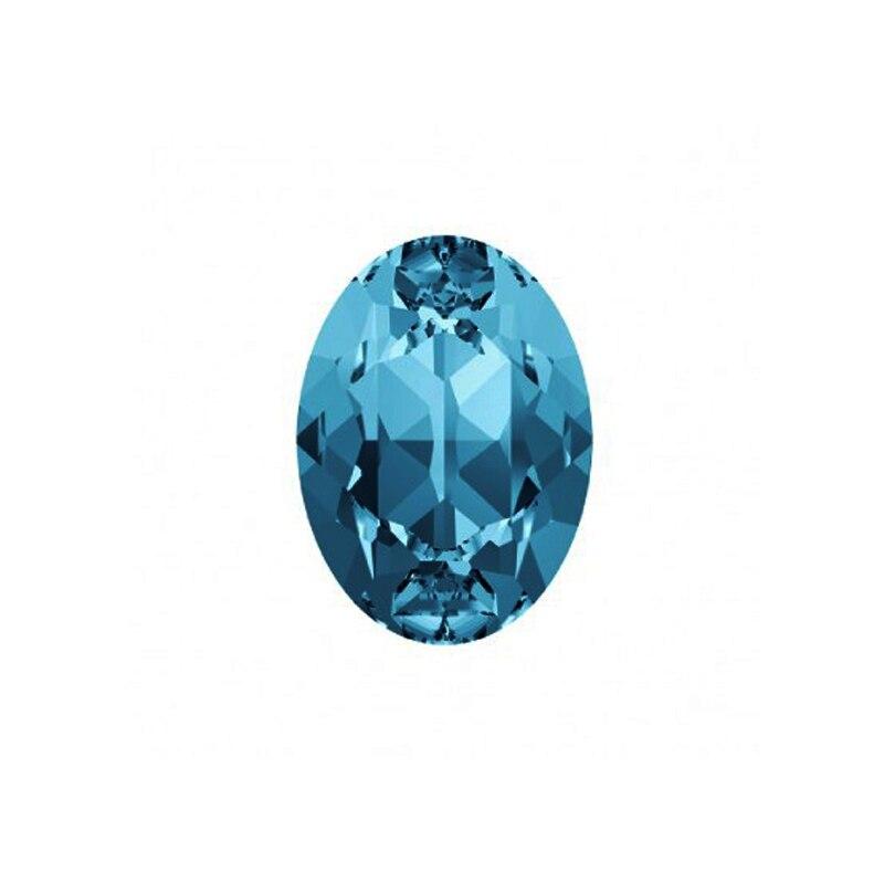 #4120 10*14mm 13*18mm 18*25mm Aquamarine Oval Fancy Rhinestone Crystal Bright Strass Pointback Stones For Wedding Dress