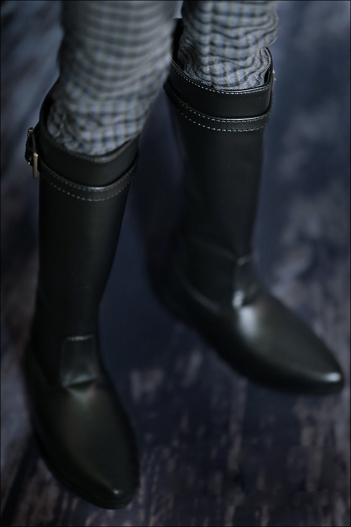D01-P034 Children Handmade Toy 1/3 1/4 Doll Accessories BJD/SD Doll Black Long Boots Army Boots 1 Pair