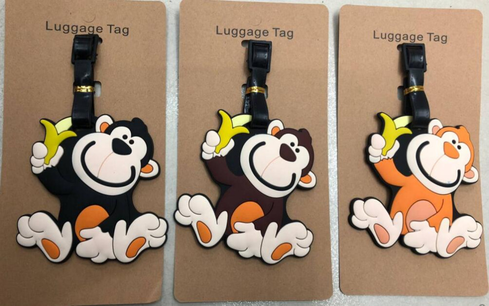 Monkey Anime Travel Accessories Luggage Tag Suitcase ID Address Portable Tags Holder Baggage Label New