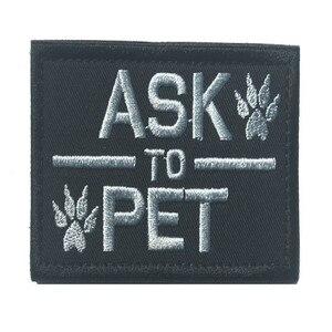 3 шт., 3D вышитый нарукавник для домашних животных, проблемные нашивки, нарукавные Значки для обслуживания собак, нашивки для собак K9, нашивки ...