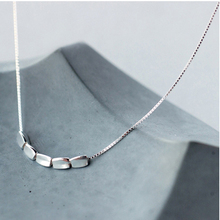 Small Grain Simple Necklace Sterling Silver Fashion Jewelry