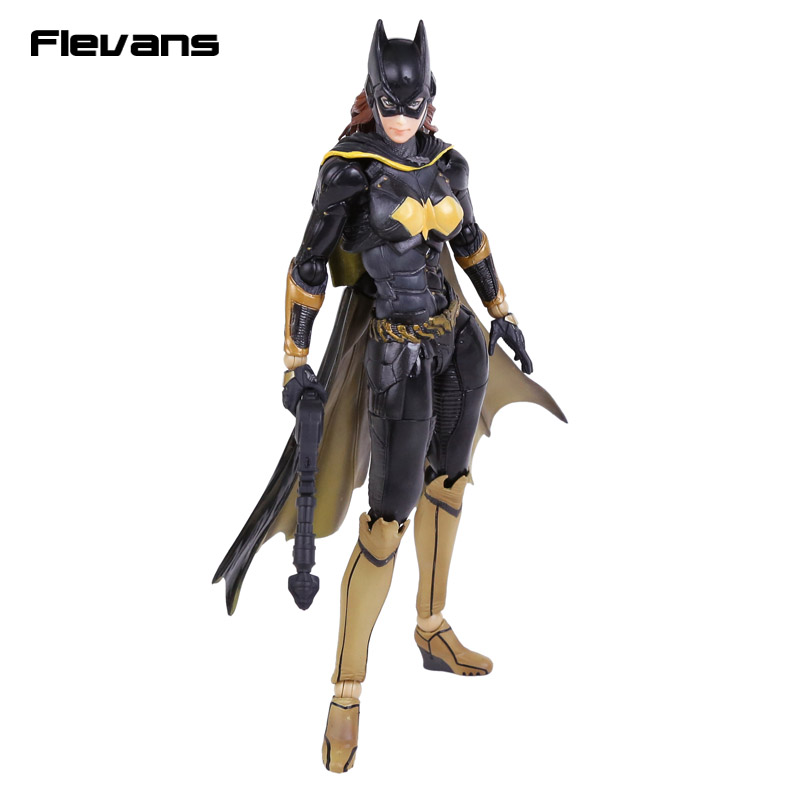 Playarts KAI Batman Arkham Knight NO.5 BATGIRL PVC Action Figure Collectible Model Toy playarts kai batman arkham knight batman blue limited ver brinquedos pvc action figure collectible model doll kids toys 28cm