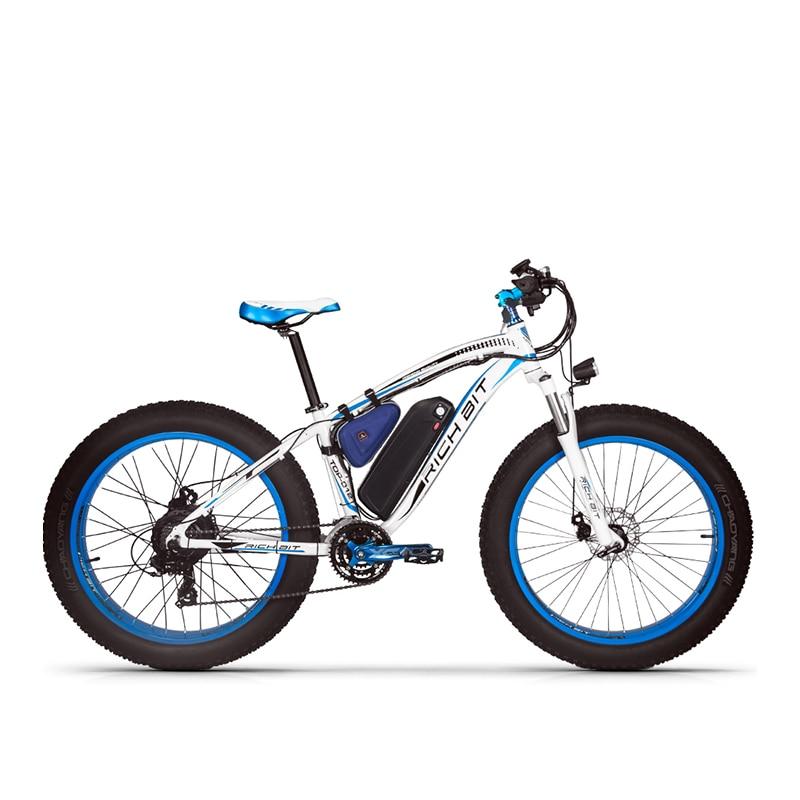 Richbit RT-012 плюс EBike с Велосипедный Спорт светодиодный компьютер мощный снег Электрический велосипед 21 Скорость 17AH 48 В 1000 Вт Электрический fat Tire Bike