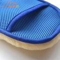 Шерсть Мягкая Мойка Автомобилей Перчатки Щетка Для Очистки Мотоцикл Шайба Уход Продукты 2 В 1 Кисти Инструмент