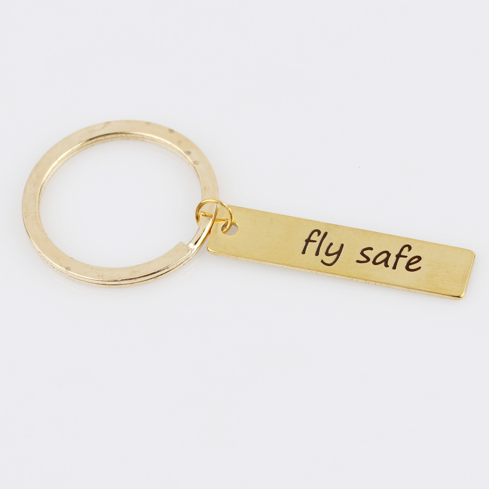 Engraved FLY SAFE Key Chain Bijoux for Motorcycles Cars Keyrings for Women  Men Aviation Aircraft Crew Gifts Keychain Jewelry -in Key Chains from  Jewelry ... 74d3827cc