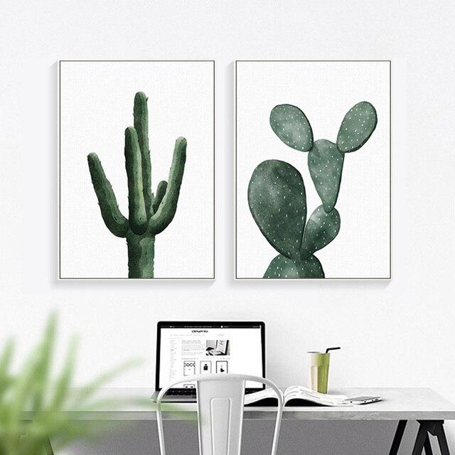 Canvas Painting Cactus Decor Nordic Plants Wall Art Cactus