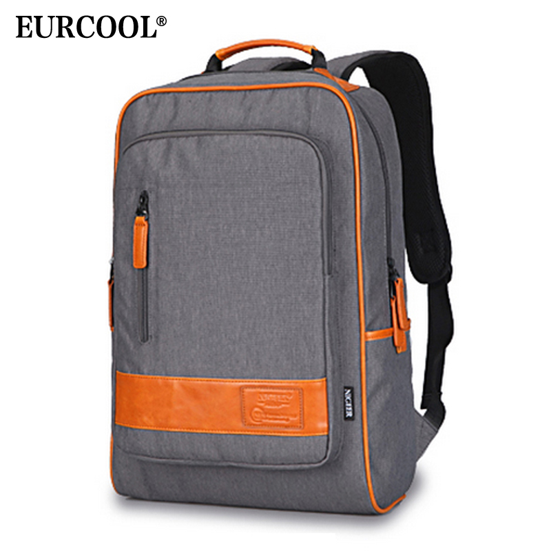 D'ordinateur Gris Eurcool N8827 Dos Scolaire Grande D'épaule Pouces Portable À Double Sac Voyage Sacs 15 Pour Décontracté Adolescente Capacité 92IYEWDH