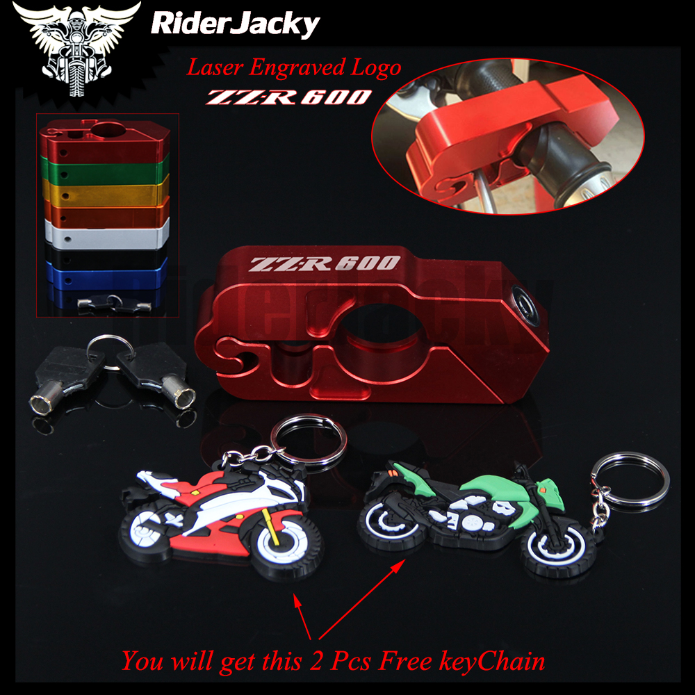 RiderJacky Brake Clutch Security Safety Theft Protection Motorcycle Handlebar Lock For kawasaki ZZR600 ZZR1400 ZZR1200 All Years