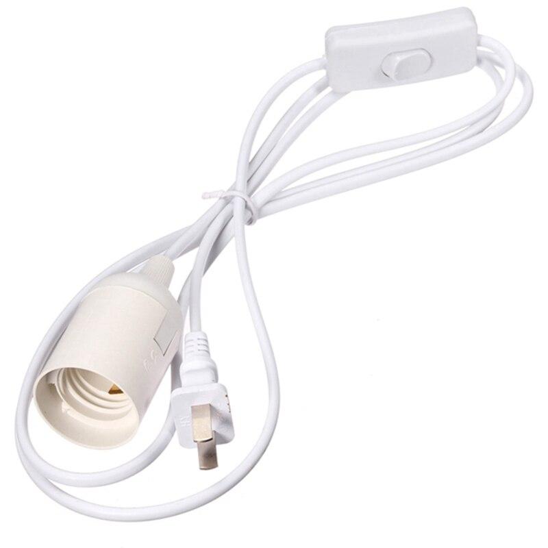 1.8m Power Cord E27 E26 Lamp Base LED Light Bulb Socket Lamp Holder Adapter Conveter With On/Off Switch AC110-220V
