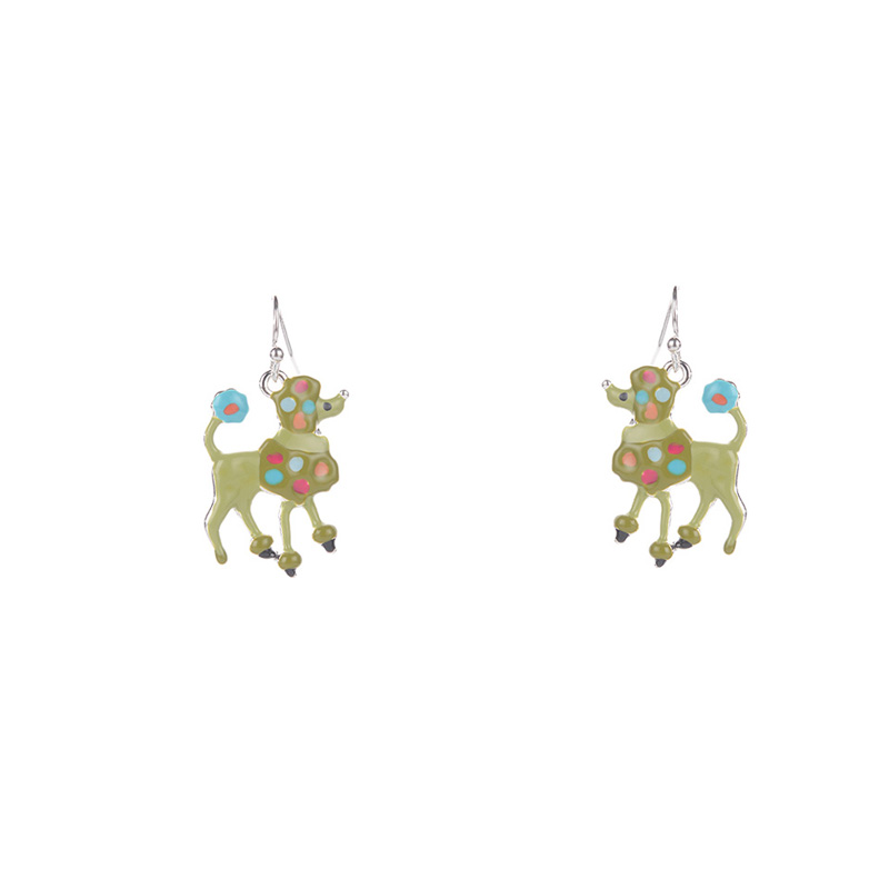 Colorful Enamel Dog Earrings For Women Handmade Metal Earring Christmas Gifts Girls Anniversary Wedding Party Earbob Jewelry in Drop Earrings from Jewelry Accessories