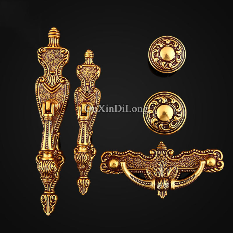 HOT 10PCS European Antique Kitchen Door Furniture Handles Retro Vintage Cupboard Drawer Wardrobe Cabinet Pulls Handles and Knobs black european simple kitchen cabinet door handles drawer cupboard vintage pulls knobs furniture accessories knob 96 128mm