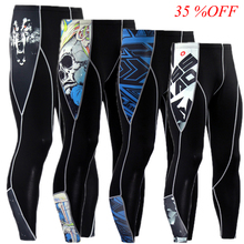 Trousers Joggers Elastic New Fitness Skull Skinny Leggings Compression-Pants Tights Wolf