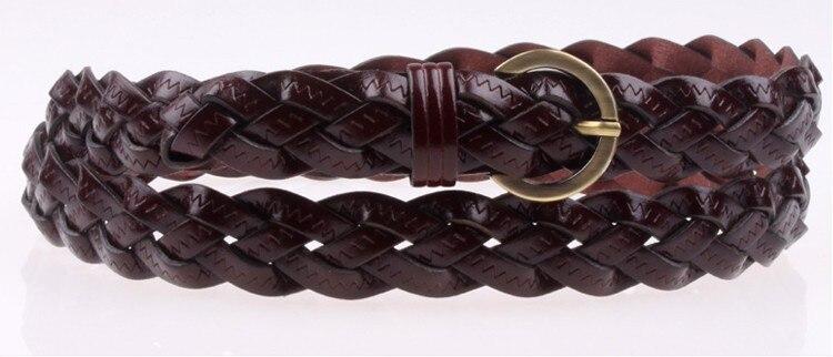 Горячая распродажа бренд ткачество из натуральной кожи тонкий пояса для женщин украшения фраке cummerbunds цвет полная длина 110 см