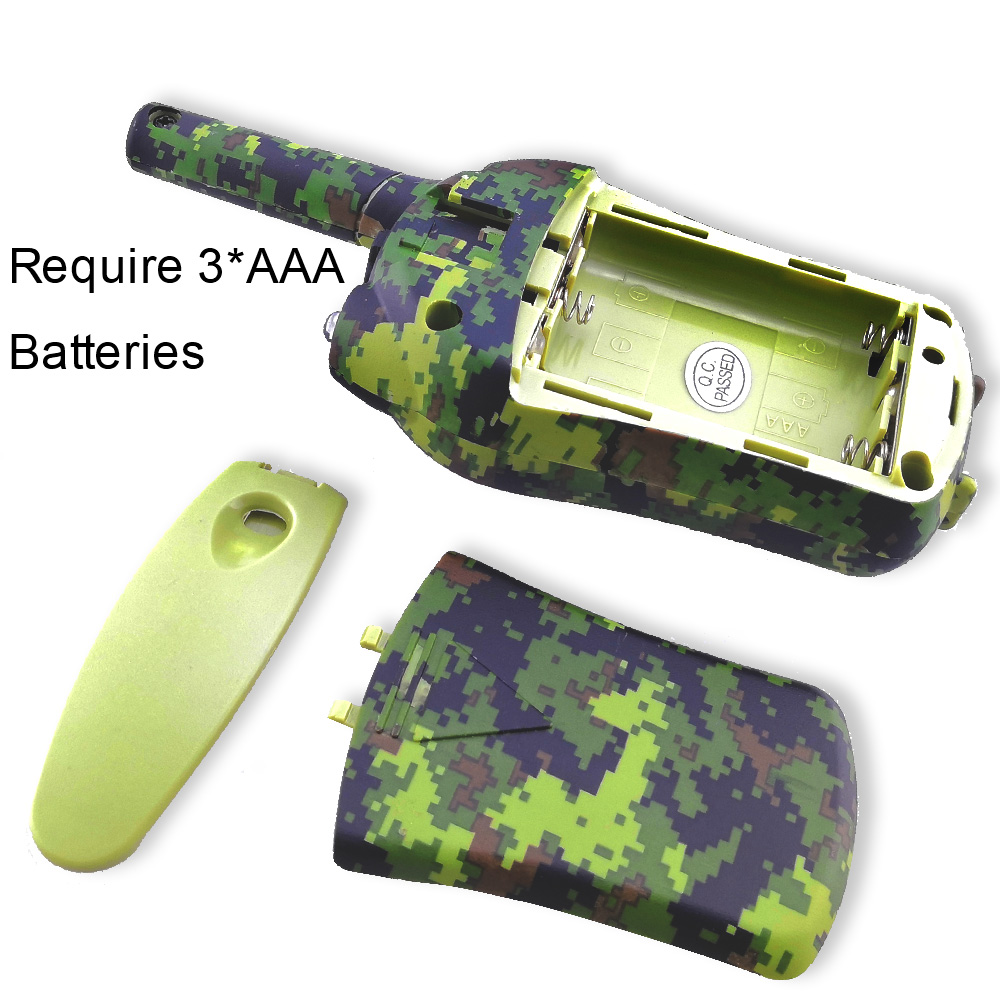 Image 2 - 2PCS/Set Kids Walkie Talkies Mini Two Way Radios Intercom Green Camo 22 Channel 446MHZ FRS Toys Interphone for Children-in Walkie Talkie from Cellphones & Telecommunications