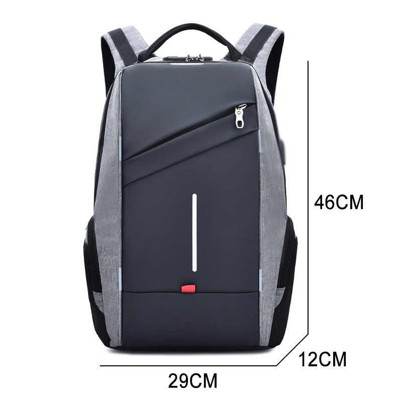 Anti Ladro Zaino Uomini di Ricarica USB Bagpack 15.6 Per 17 pollici Del Computer Portatile Zaino Per Le Donne Sacchetto di Scuola di Scuola di Sesso Maschile Zaino femminile