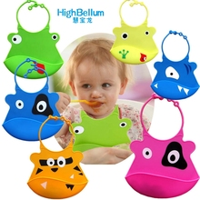 Silicone Baby Bibs Waterproof Feeding Burp Cloths For Children Self Care BIG SIZE HB BABY