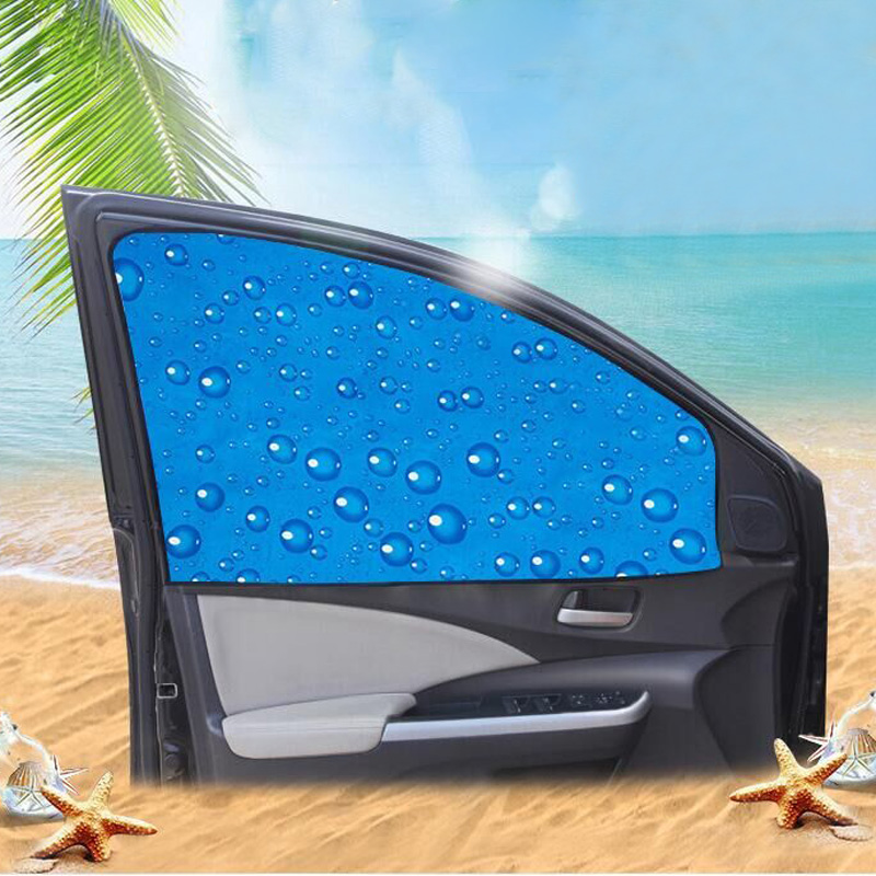 Single-Layer UV Solar Sun Protection Retractable Magnetic Car Curtains Side Visor Summer Sunshade Window Protector Baby