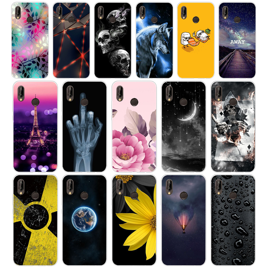 K Huawei P20 Lite Case 5.84inch Huawei P20 Lite Soft Rubber TPU Silicone Back Phone Case For Huawei P20 Lite Cover Bag Cases