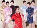 New ladies short sleeve sexy red cheongsam qipao dresses Qi pao Cheongsam vestidos party Evening Dress Chinese traditional dress
