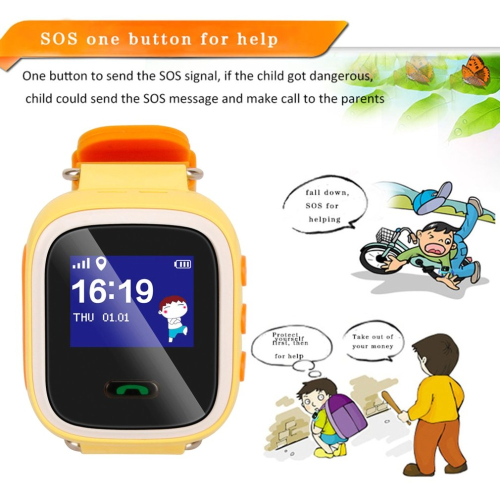 Watches Child Cute Smartwatch Safe-keeper Sos Call Anti-lost Monitor Real Time Tracker For Children Base Station Location App Control Buy One Give One Digital Watches