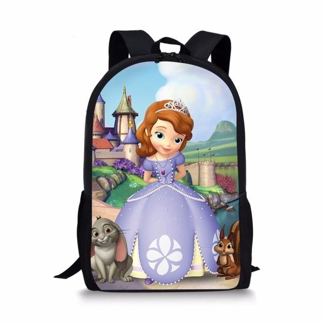 Cartoon Sofia the First School Bags Printing Kids Backpack for Girls  Mochila Infantil Escolar Schooltas Orthopedic ca76d5152f830