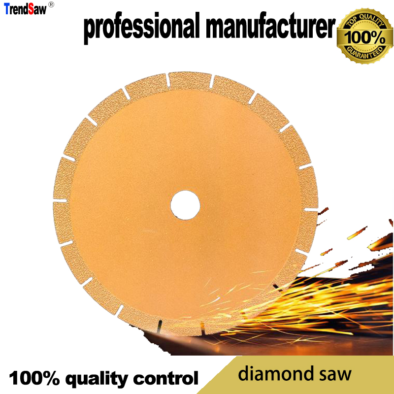 Lame de diamant brasé pour tuyau de métal en pierre tôle d'acier moulé béton armé marbre céramique coupe exportation vers le japon