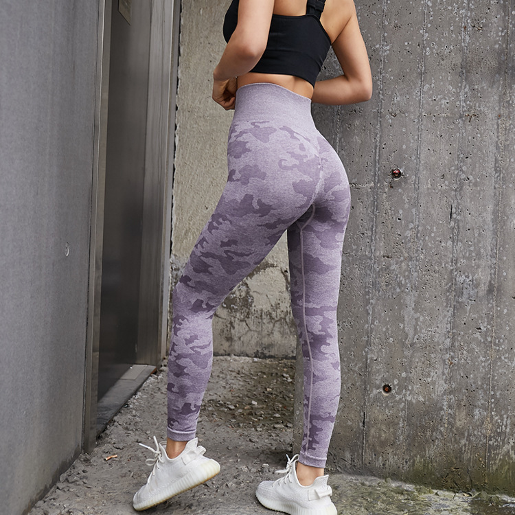 Mulheres camo sem costura leggings push up