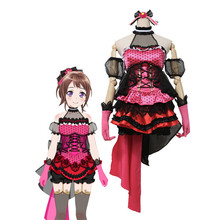 Hot Sale!!!Custom Made Cosplay Costume BanGDream!PoppinParty Lead vocal Cos Dress sweet and cute full sets