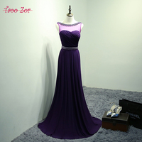 TaooZor 2018 New Arrival Real Photo Plus Size Scoop Neck Bling Pearls Long Evening Dress Ever