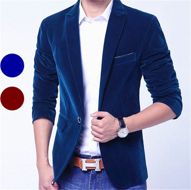 Popular Blue Velvet Blazer-Buy Cheap Blue Velvet Blazer lots from ...