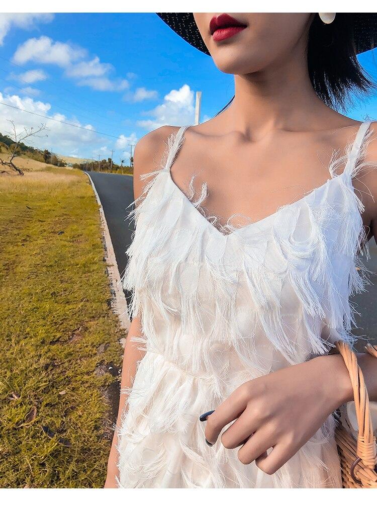 Femmes Bohême Plage Robe Blanc Couverture-ups Tuniques Sarong Plage Porter À Bronzer Usage Frais - 6