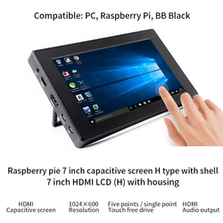 Raspberry pi 4b 3b + 3b 7 polegadas tela de toque capacitivo ips hdmi suporte entrada vga