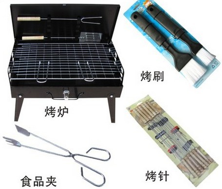 Outdoor Camping BBQ Grill Folding Barbecue Grill Rack Portable Durable Charbroiler