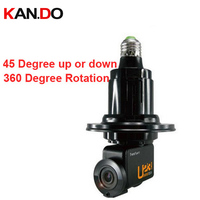 360deg Rotation IP Camera Wifi Remote Control Phone Control Mini Camcorder Tilt Function Camera E27 Lamp