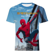 2019 far from home spidermna t shirt 3D print Men T Shirts Summer harajuku Short Sleeve O neck men top Movie Plus Size Tee fans(China)