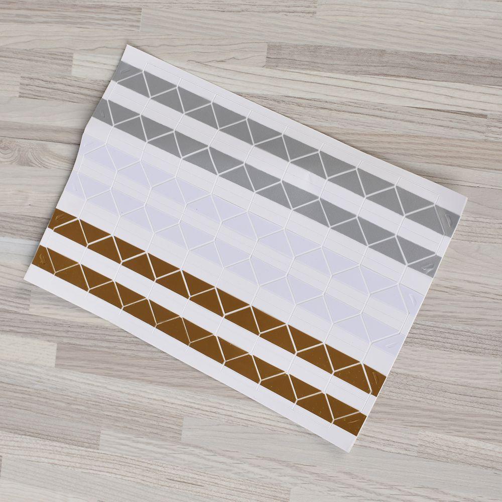 New1 фото листа скрап-альбом Уголок Ленты Стикеры самоклеящиеся ручной DIY - Цвет: goldsilver