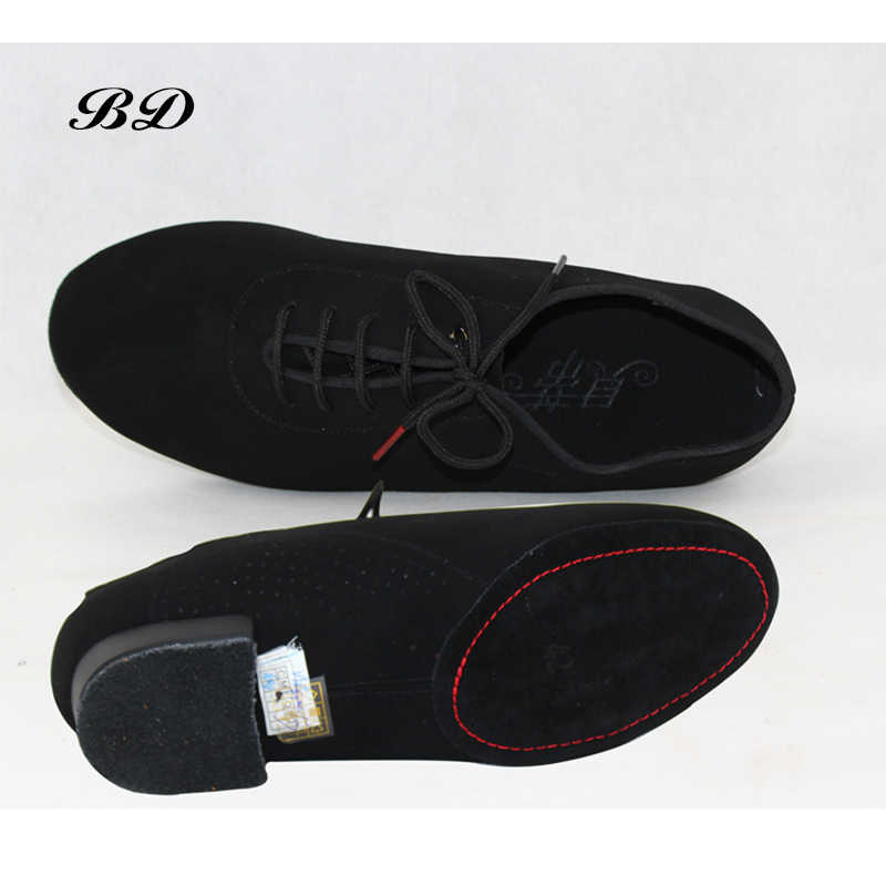 SAPATAS DOS HOMENS Profissão Sapato de Salão Sapatos de Dança Latina Moderno GB Valsa amizade Couro Macio Premium Oxford Heel 2.5 cm BD 309