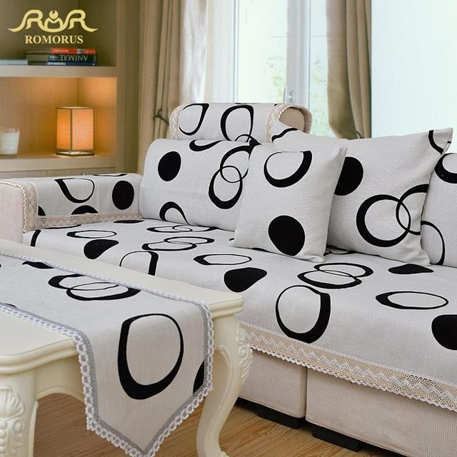 ROMORUS Sofa Slipcover Sectional Couch Covers Luxury Modern Corner Sofa  Cover Home Decoration Linen Cotton Tatami