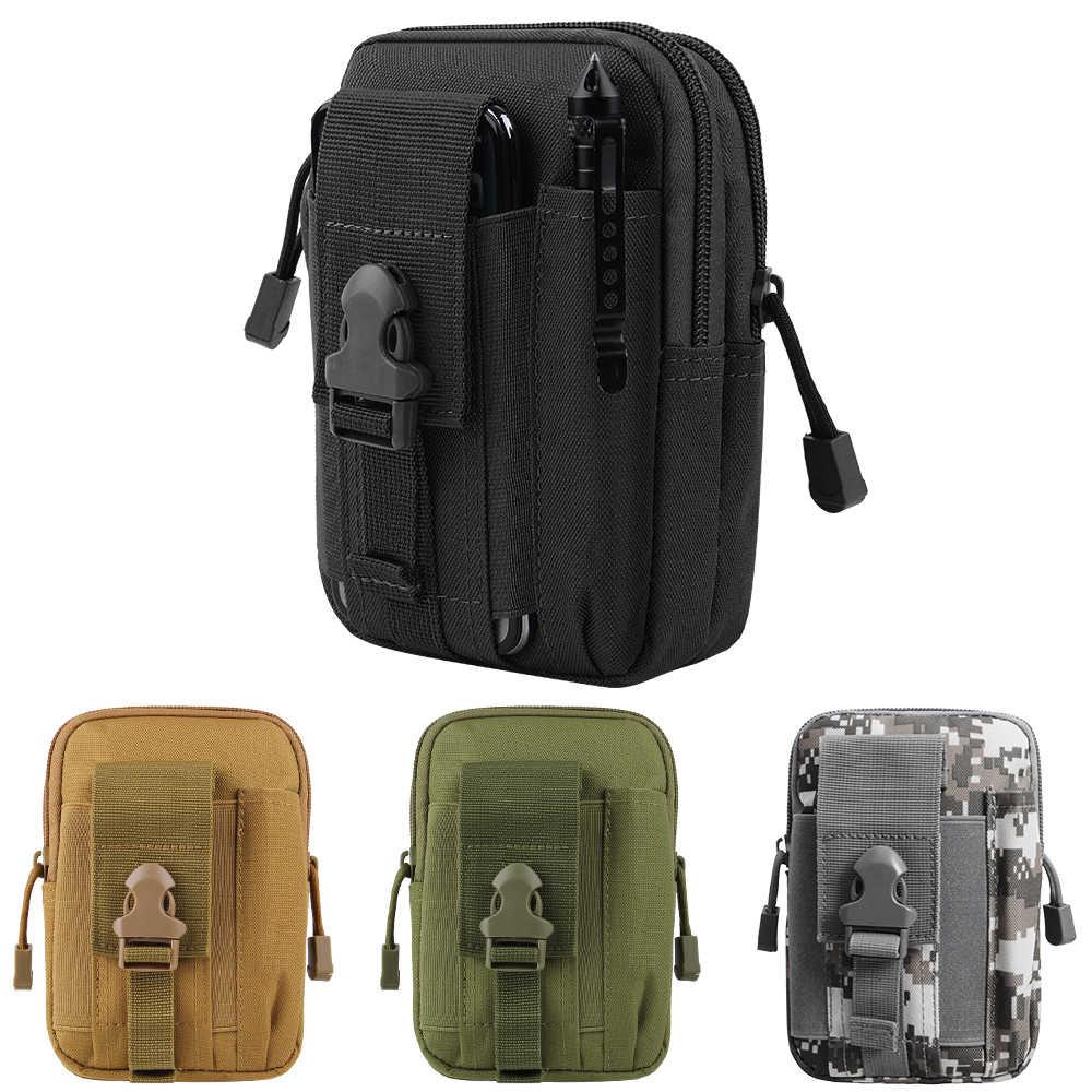 Bolsa táctica Molle, bolsa de cintura, impermeable, de nailon, multifunción, informal, para hombre, bolsa de herramientas EDC, bolsa pequeña, funda para teléfono móvil, bolsa de caza