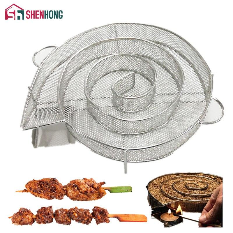 SHENHONG Froid Générateur De Fumée pour BARBECUE Bacon Pêcher Le Saumon Viande poussière chaude et Fumer La Viande de Saumon Brûler Fumeur Outils Bacon Viande Poissons