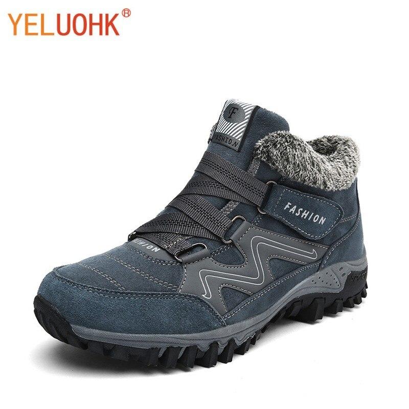 38-46 Chaussures de sécurité En Peluche Chaud Hiver Hommes Bottes Anti-dérapage Bottes D'hiver Hommes Grande Taille Haute Qualité