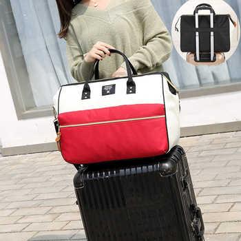 Women Large Travel Bag Portable Clothing Duffle Bags Travel Organiser Weekend Bag Folding Men Overnight Bags Fashion Hand Tote
