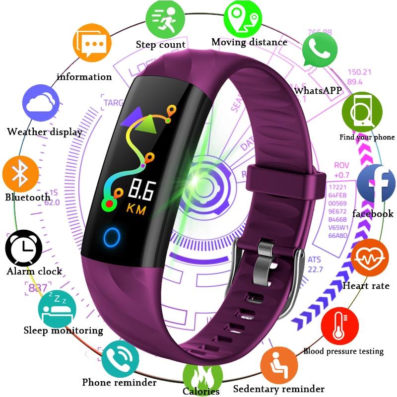 BANGWEI Nouveau Hommes Montre Smart Watch Étanche Sport Fitness Tracker Podomètre Sang Pression Surveillance de la fréquence Cardiaque Numérique montre + Boîte
