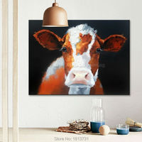 Oil painting On Canvas Wall Pictures Paintings For Living Room Canvas Pop art Cow modern abstract hand painted paint home decor