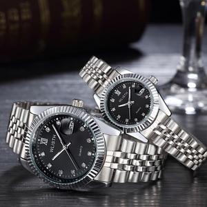 Image 4 - Couple Watch 2020 Mens Watches Top Brand Luxury  Quartz Watch Women Clock Ladies Dress Wristwatch Fashion Casual lovers Watch