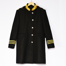 Бренд-одежда зима однобортный стенд воротник вышивка шерсть траншеи пальто мужчины стильный мужчины кашемир шинели