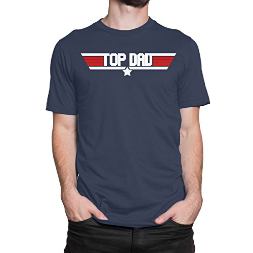 Top Dad Best Dad Ever Top Gun Mens Print Haus T Shirt 100% Cotton Men T Shirt Tees Custom Fashion T Shirt Brand