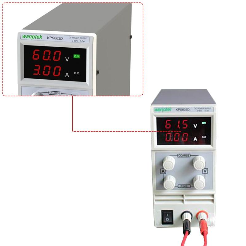 603D Adjustable High precision double LED display switch DC Power Supply protection function 0-60V/0-3A 110V-230V 0.1V/0.01A EU603D Adjustable High precision double LED display switch DC Power Supply protection function 0-60V/0-3A 110V-230V 0.1V/0.01A EU